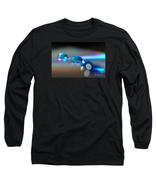 Long Sleeve T-Shirt featuring the photograph Blue Sparks by Sylvie Leandre