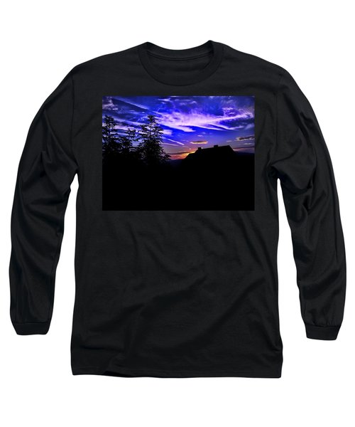 Long Sleeve T-Shirt featuring the photograph Blue Sunset In Poland by Mariola Bitner