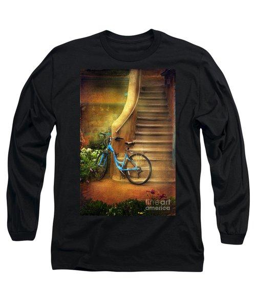 Blue Taos Bicycle Long Sleeve T-Shirt by Craig J Satterlee