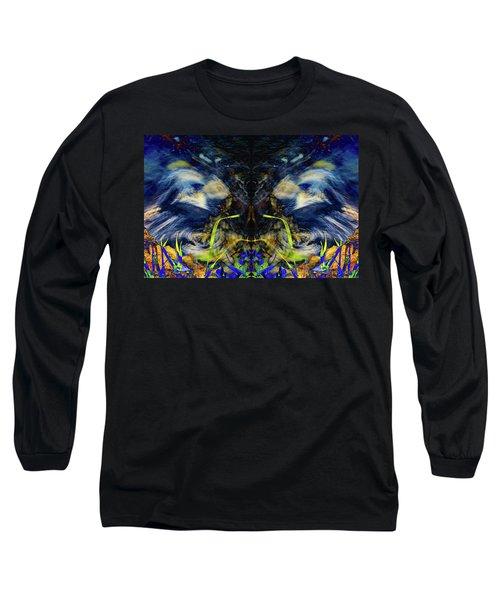 Blue Tigers Devil Long Sleeve T-Shirt