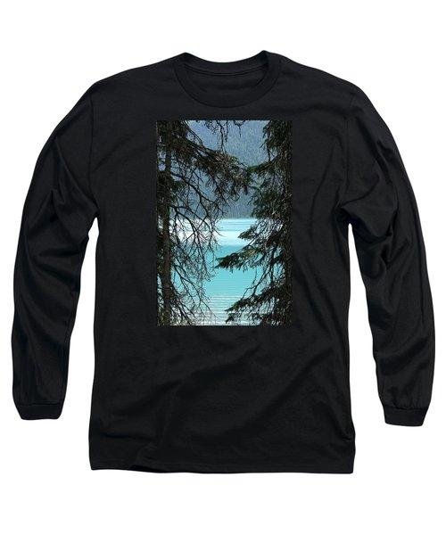 Blue Whisper Long Sleeve T-Shirt by Al Fritz