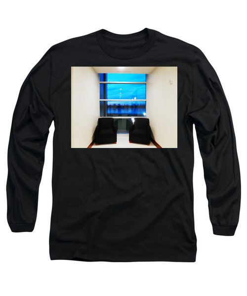 Blue Window Long Sleeve T-Shirt