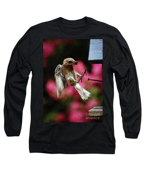 Long Sleeve T-Shirt featuring the photograph Bluebird 0726162 by Douglas Stucky