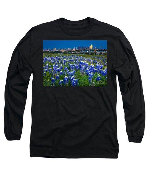 Bluebonnets In Dallas Long Sleeve T-Shirt