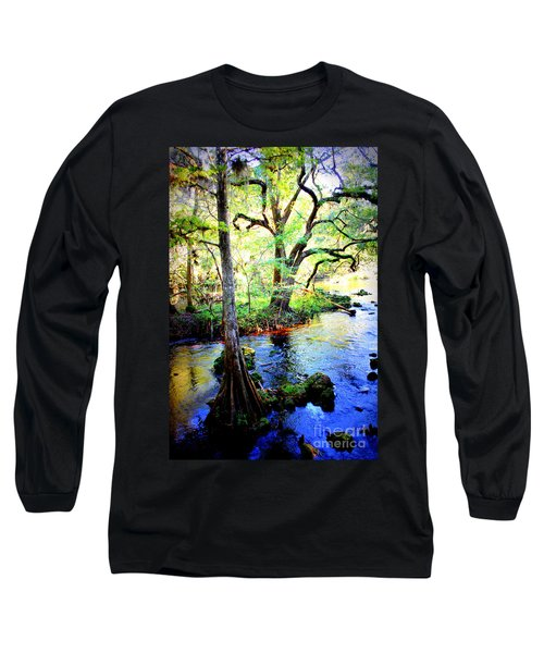 Blues In Florida Swamp Long Sleeve T-Shirt