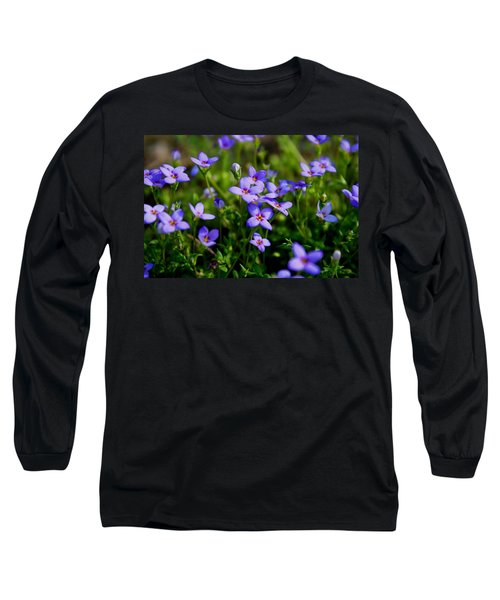 Long Sleeve T-Shirt featuring the photograph Bluets by Kathryn Meyer
