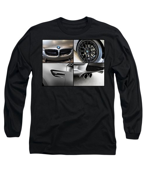 Long Sleeve T-Shirt featuring the photograph Bmw M3 Collage by Aaron Berg