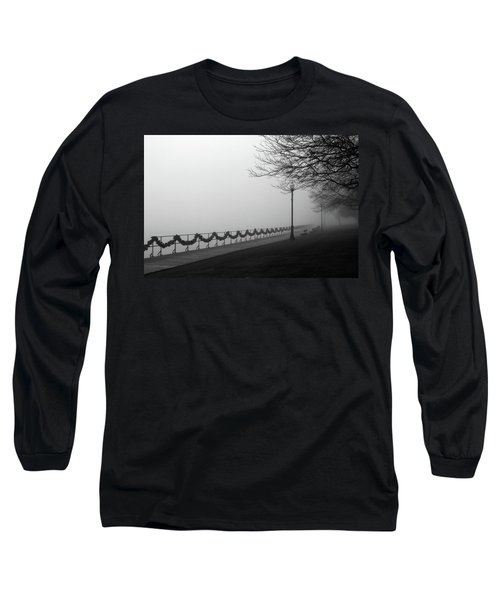 Long Sleeve T-Shirt featuring the photograph Boardwalk Fog 7 by Mary Bedy