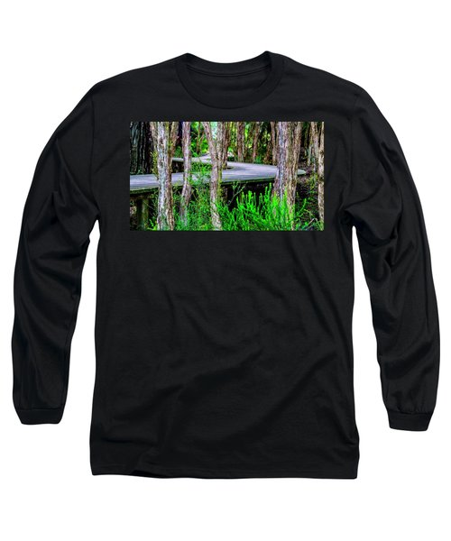 Boardwalk In The Woods Long Sleeve T-Shirt