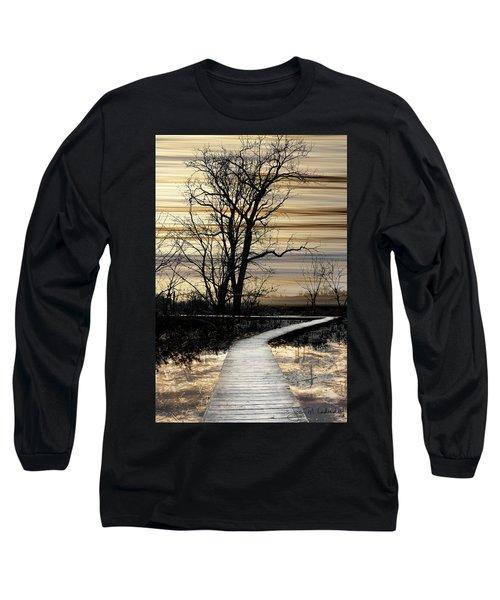 Boardwalk Long Sleeve T-Shirt by Joan Ladendorf