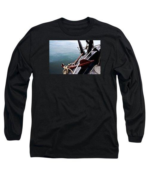 Boat Anchor Long Sleeve T-Shirt by Rena Trepanier