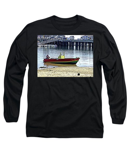 Boat At The Beach Provincetown Long Sleeve T-Shirt