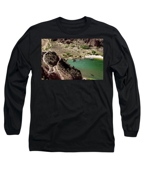 Boat Beach On The Colorado River Long Sleeve T-Shirt