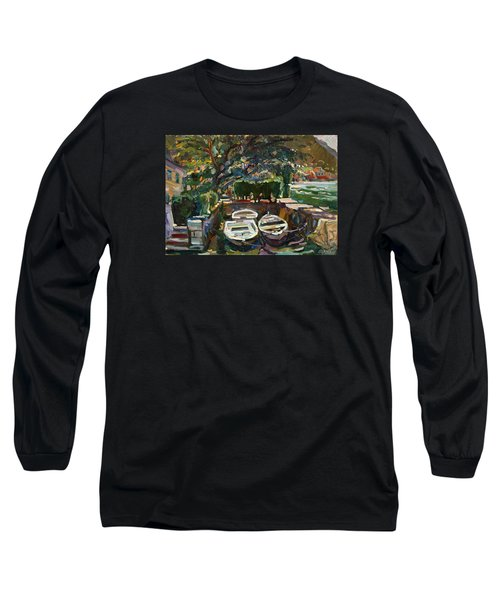 Boats At The Pier. Sold Long Sleeve T-Shirt