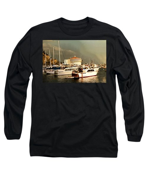 Long Sleeve T-Shirt featuring the photograph Boats Catalina Island California by Floyd Snyder