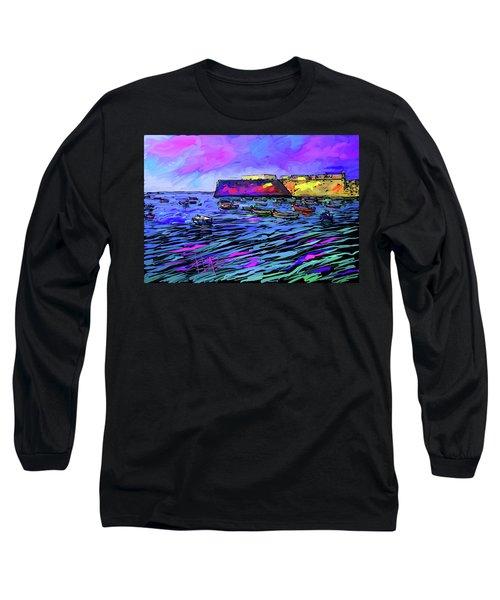Boats In Cadiz, Spain Long Sleeve T-Shirt