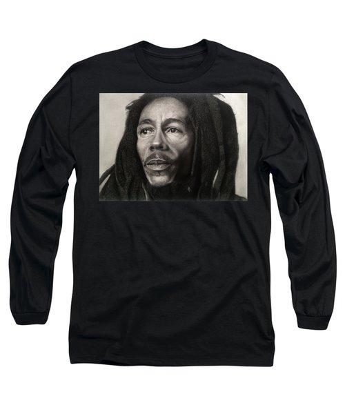 Bob Marley Drawing Long Sleeve T-Shirt