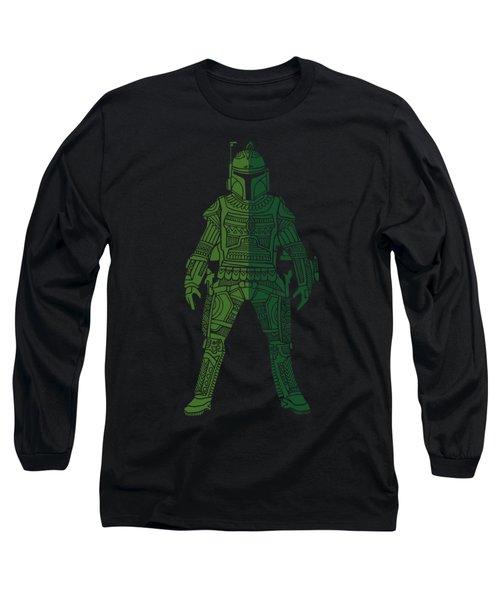 Boba Fett - Star Wars Art, Green 02 Long Sleeve T-Shirt