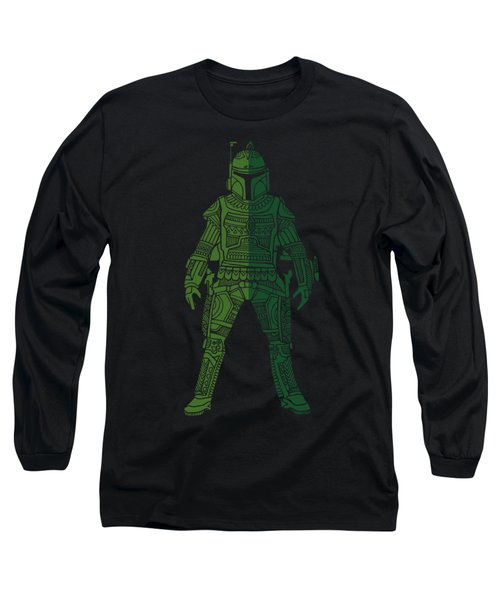 Boba Fett - Star Wars Art, Green 02 Long Sleeve T-Shirt