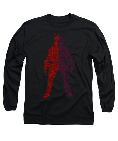 Boba Fett - Star Wars Art, Red Violet Long Sleeve T-Shirt