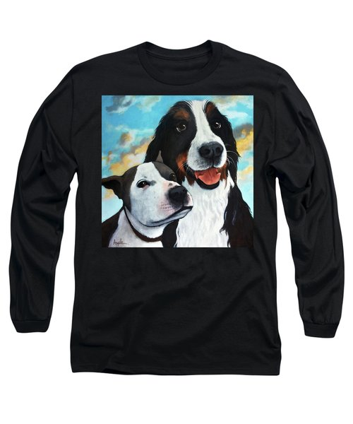 Bodhi And Lily  Pet Portrait Long Sleeve T-Shirt