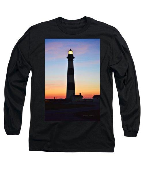 Bodie Lighthouse At Sunrise Long Sleeve T-Shirt