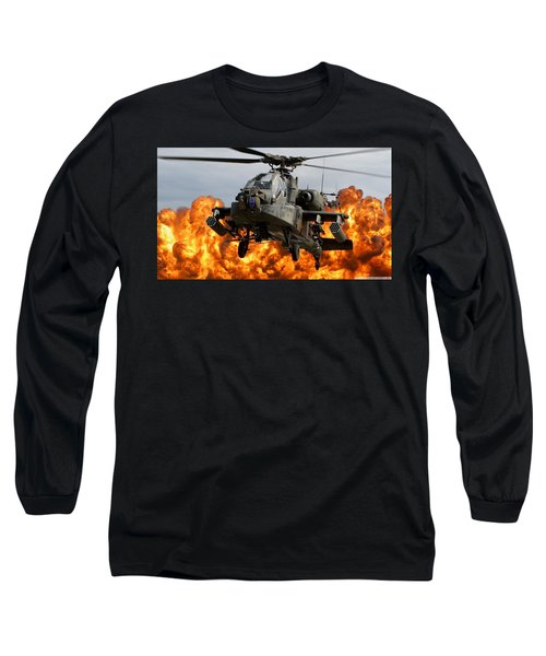 Boeing Ah-64 Apache Long Sleeve T-Shirt