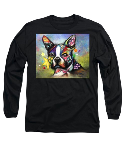 Boston Terrier Long Sleeve T-Shirt by Patricia Lintner