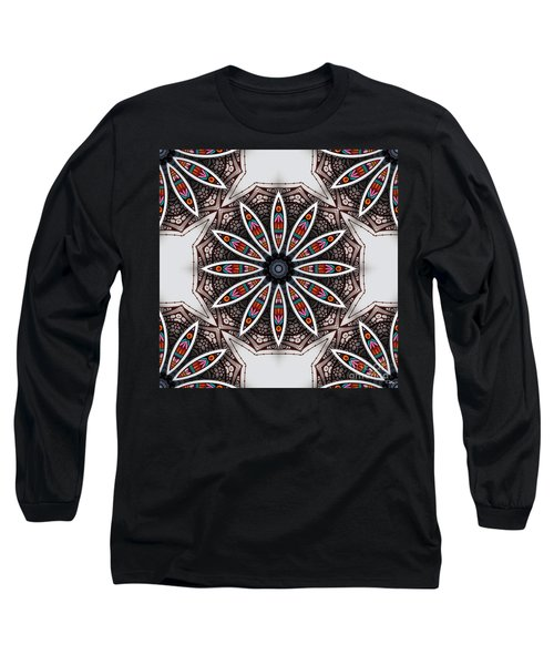Long Sleeve T-Shirt featuring the digital art Boho Flower by Mo T
