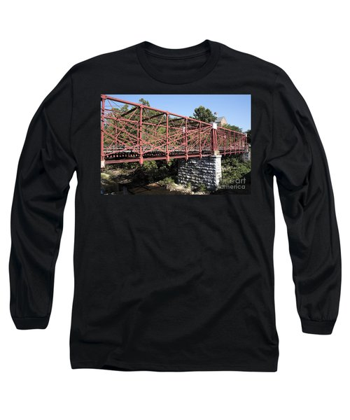 Bollman Truss Bridge At Savage In Maryland Long Sleeve T-Shirt