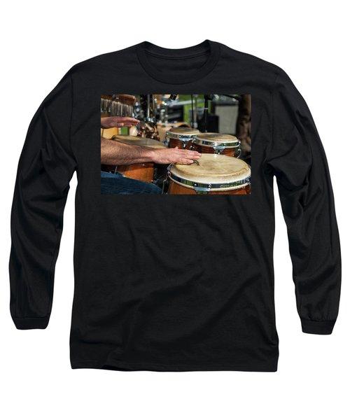 Bongo Hand Drums Long Sleeve T-Shirt