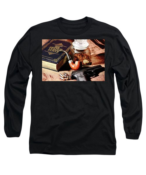 Books And Bullets Long Sleeve T-Shirt by Barry Jones
