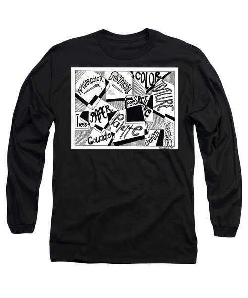 Books And Words Long Sleeve T-Shirt by Quwatha Valentine