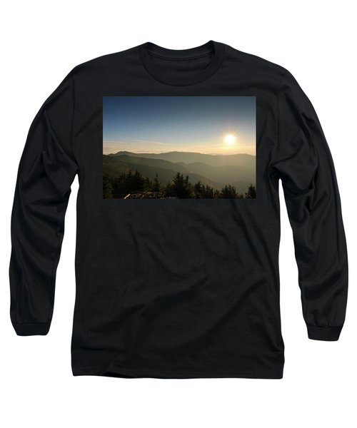 Boone Nc Area Sunset Long Sleeve T-Shirt