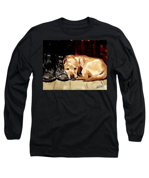 Boots Long Sleeve T-Shirt by Molly Poole
