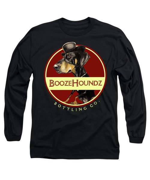 Boozehoundz Bottling Co. Long Sleeve T-Shirt by John LaFree
