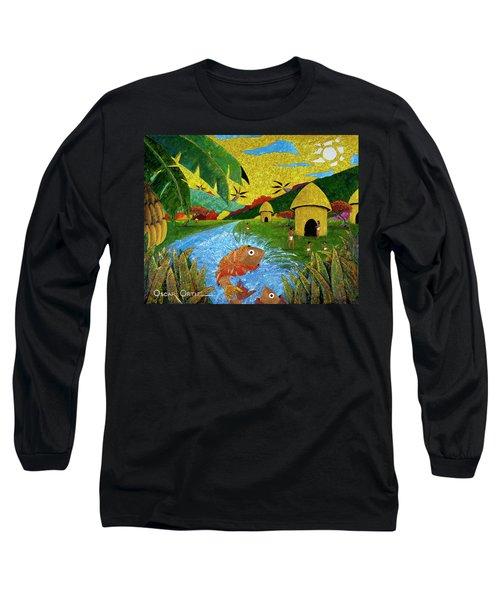 Boriken Long Sleeve T-Shirt by Oscar Ortiz