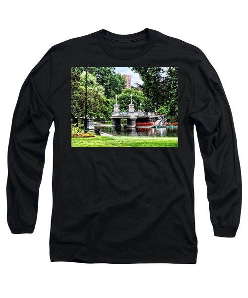 Boston Ma - Boston Public Garden Bridge Long Sleeve T-Shirt