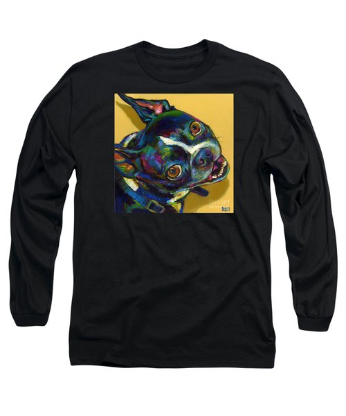 Long Sleeve T-Shirt featuring the digital art Boston Terrier by Robert Phelps