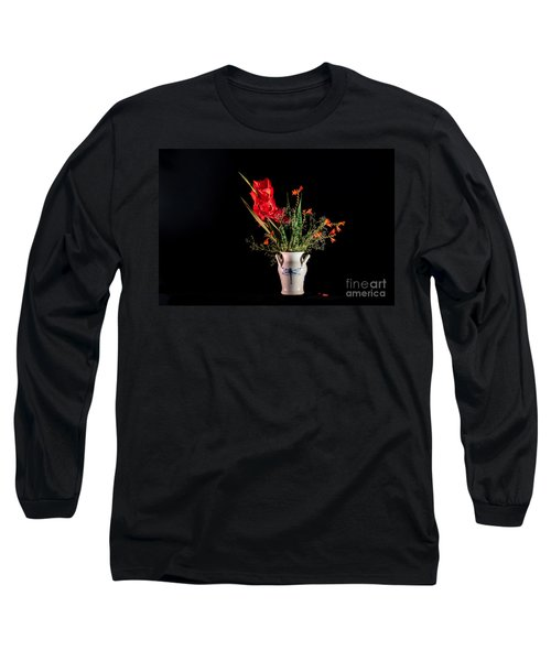 Bouquet In Red Long Sleeve T-Shirt by Torbjorn Swenelius