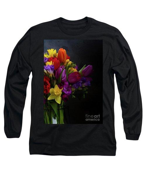 Flowers Dutch Style Long Sleeve T-Shirt