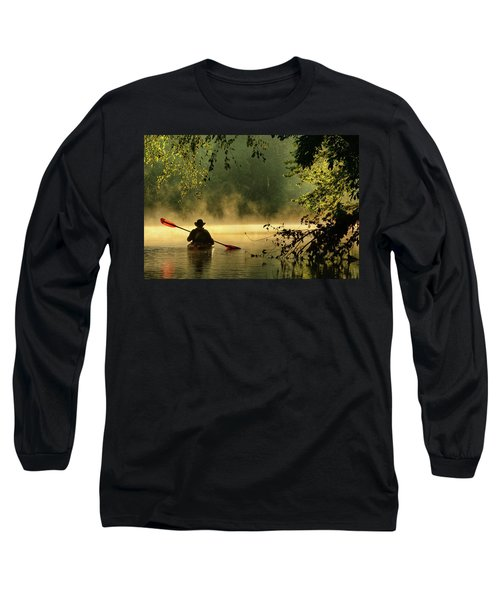 Bourbeuse River  Long Sleeve T-Shirt by Robert Charity