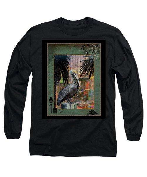 Bourbon Street Pelican Long Sleeve T-Shirt
