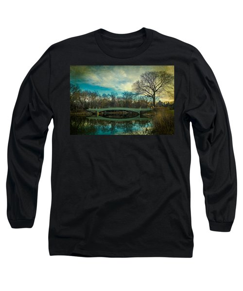 Long Sleeve T-Shirt featuring the photograph Bow Bridge Reflection by Chris Lord