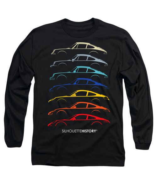 Boxer Sports Car Silhouettehistory Long Sleeve T-Shirt