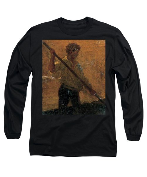 Long Sleeve T-Shirt featuring the painting Boy In A Punt by Henry Scott Tuke