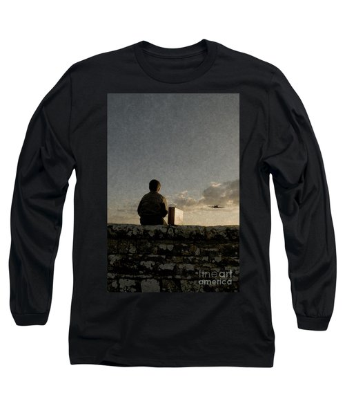Boy On Wall Long Sleeve T-Shirt