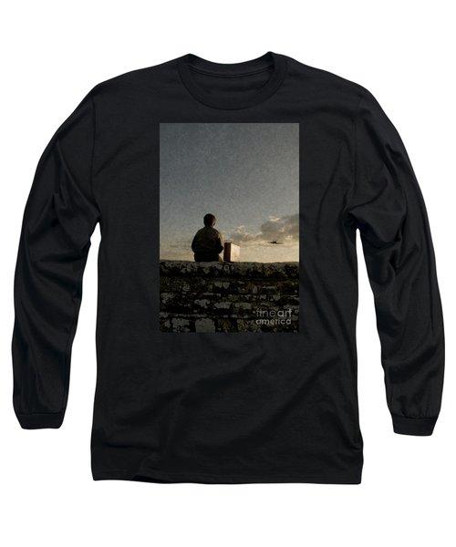 Boy On Wall Long Sleeve T-Shirt