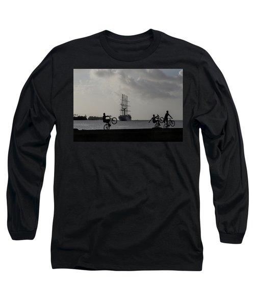 Boys At Play Long Sleeve T-Shirt by Sharon Jones