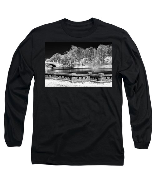 Long Sleeve T-Shirt featuring the photograph Branch Brook Park New Jersey Ir by Susan Candelario